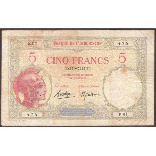 DJIBOUTI 5 Francs 1928