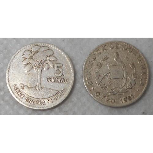 GUATEMALA 5 Centavos 1961 AG
