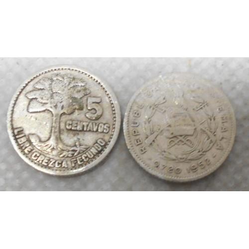GUATEMALA 5 Centavos 1952 AG