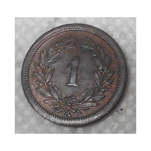 SWITZERLAND 1 Rappen 1851