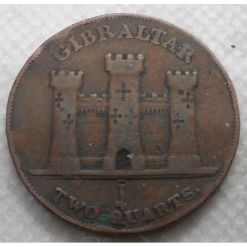 GIBRALTAR 2 Quarts 1842