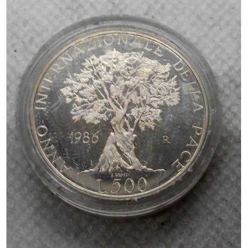 500 Lire 1986 ANNO DELLA PACE