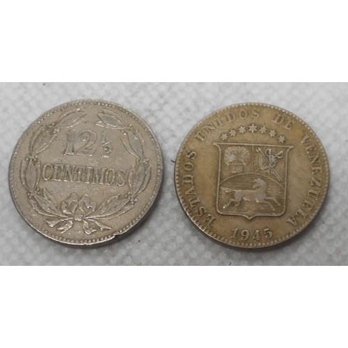 VENEZUELA 12 1/2 Centimos 1945