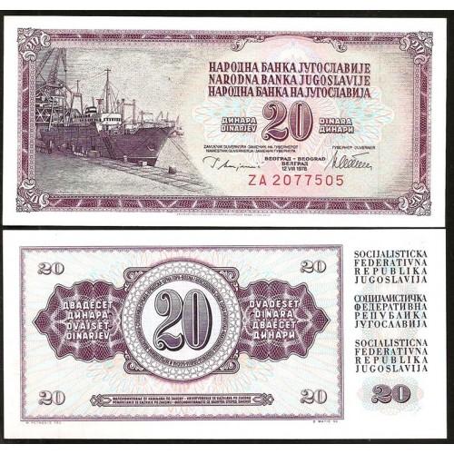 YUGOSLAVIA 20 Dinara 1978...