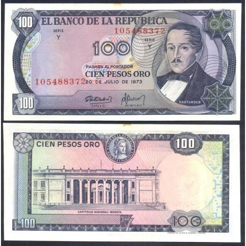 COLOMBIA 100 Peso Oro 1973