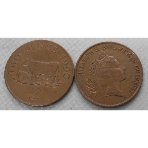 GUERNSEY 2 Pence 1990