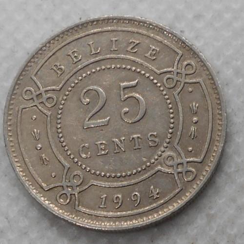 BELIZE 25 Cents 1994