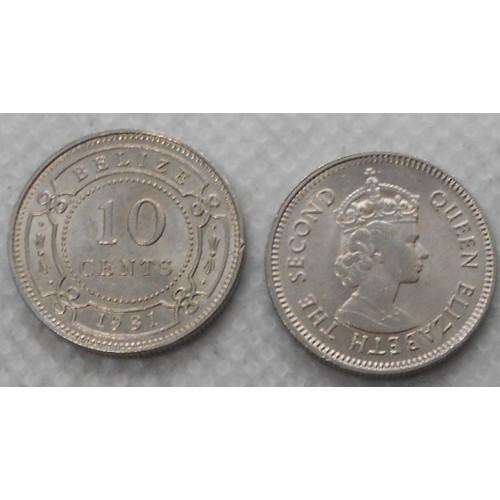 BELIZE 10 Cents 1981