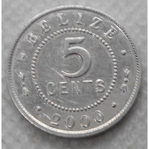 BELIZE 5 Cents 2000