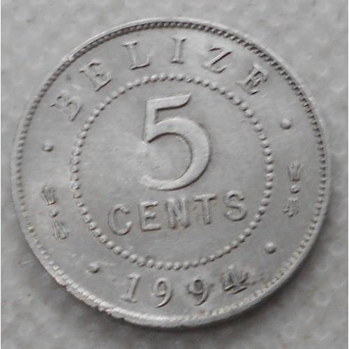 BELIZE 5 Cents 1994