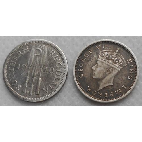 SOUTHERN RHODESIA 3 Pence...