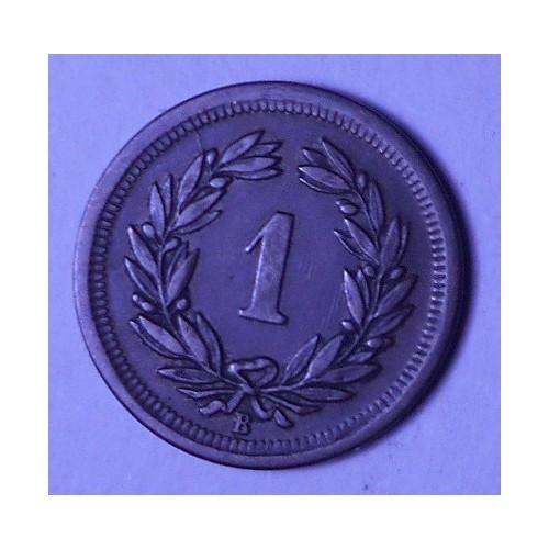 SWITZERLAND 1 Rappen 1877