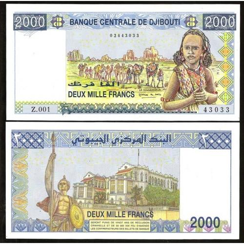 DJIBOUTI 2000 Francs 2007