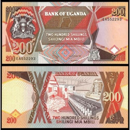 UGANDA 200 Shillings 1996