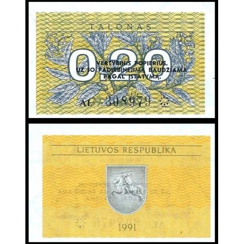 LITHUANIA 0.20 Talonas 1991