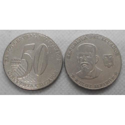 ECUADOR 50 Centavos 2000 E....