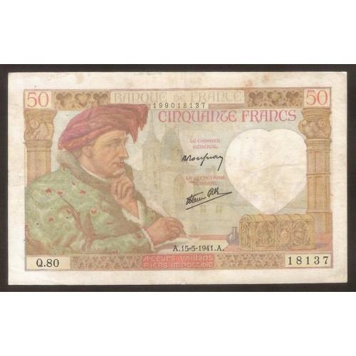 FRANCE 50 Francs 15.05.1941