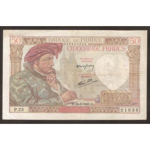 FRANCE 50 Francs 26.09.1940