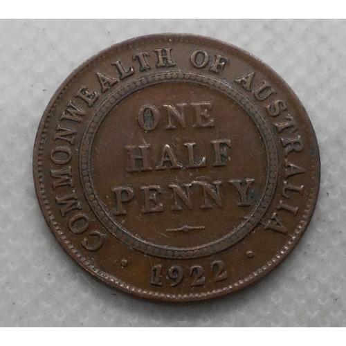 AUSTRALIA 1/2 Penny 1922
