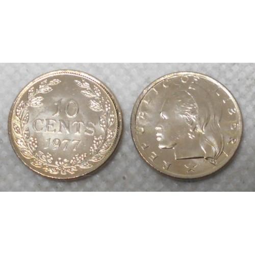 LIBERIA 10 Cents 1977
