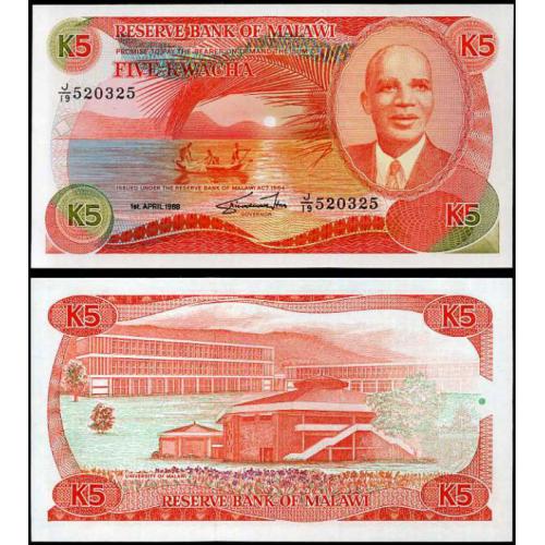 MALAWI 5 Kwacha 1988