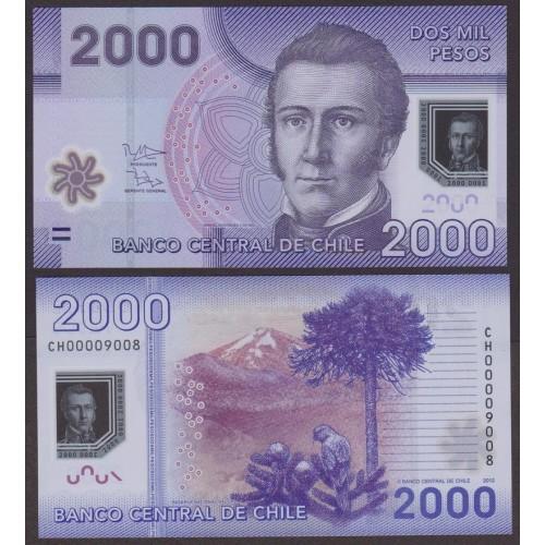 CHILE 2000 Pesos 2012 Polymer