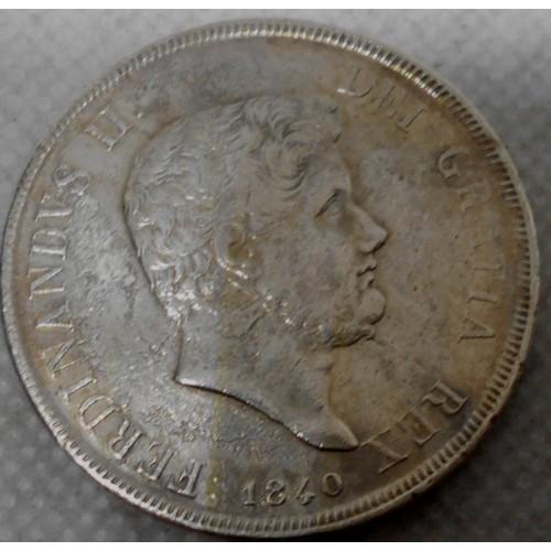 FERDINANDO II PIASTRA 1840 AG