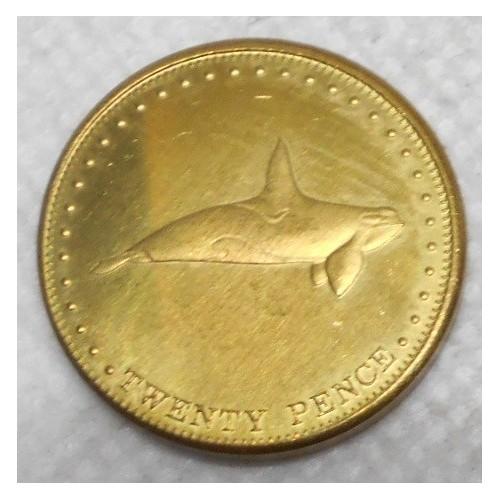 TRISTAN DA CUNHA 20 Pence 2008