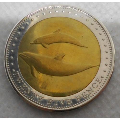 TRISTAN DA CUNHA 25 Pence 2008