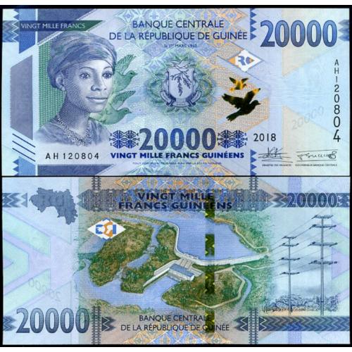 GUINEA 20.000 Francs 2018...