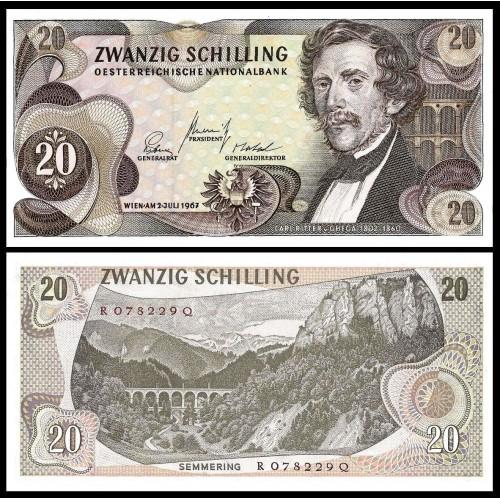 AUSTRIA 20 Schilling 1967