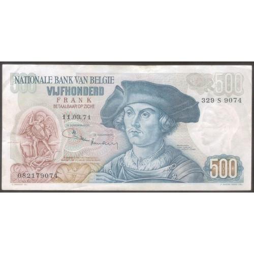 BELGIUM 500 Francs 1971