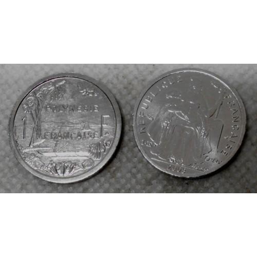 FRENCH POLYNESIA 1 Franc 2008