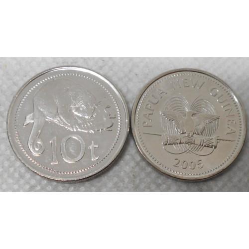 PAPUA NEW GUINEA 10 Toea 2005
