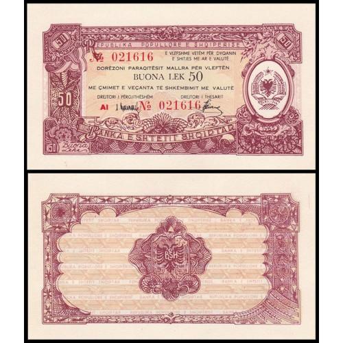 ALBANIA 50 Buona Lek 1965