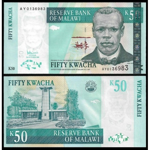 MALAWI 50 Kwacha 2006