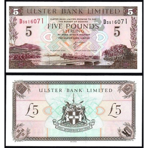 NORTHERN IRELAND 5 Pounds 2001