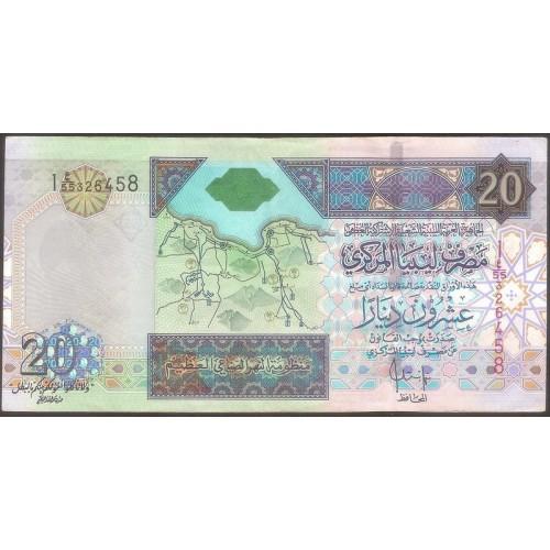 LIBYA 20 Dinars 2002