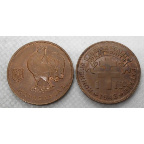 MADAGASCAR 1 Franc 1943