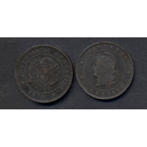ARGENTINA 1 Centavo 1890