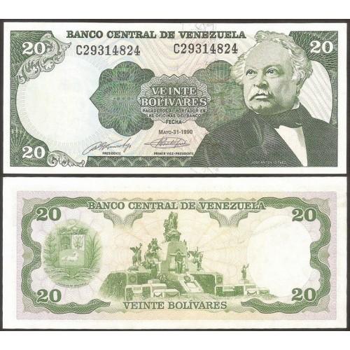 VENEZUELA 20 Bolivares 1990
