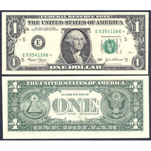 USA 1 Dollar 2003 Serie E...