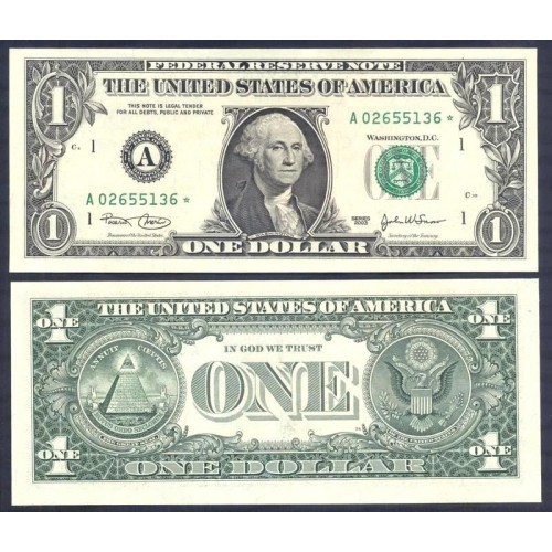 USA 1 Dollar 2003 Serie A...