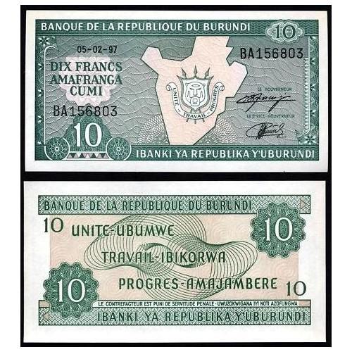 BURUNDI 10 Francs 1997