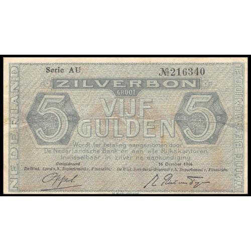 NETHERLANDS 5 Gulden 1944