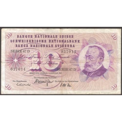 SWITZERLAND 10 Franken 1967