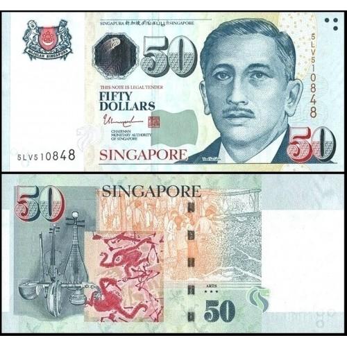 SINGAPORE 50 Dollars 2018