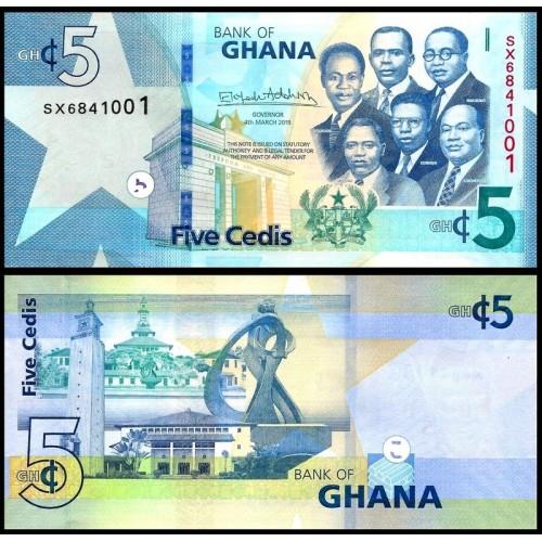 GHANA 5 Cedis 2019