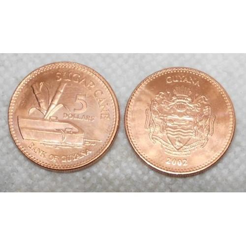 GUYANA 5 Dollars 2002