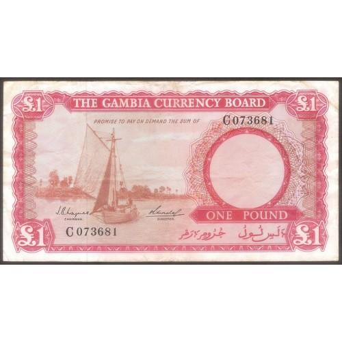 GAMBIA 1 Pound 1965